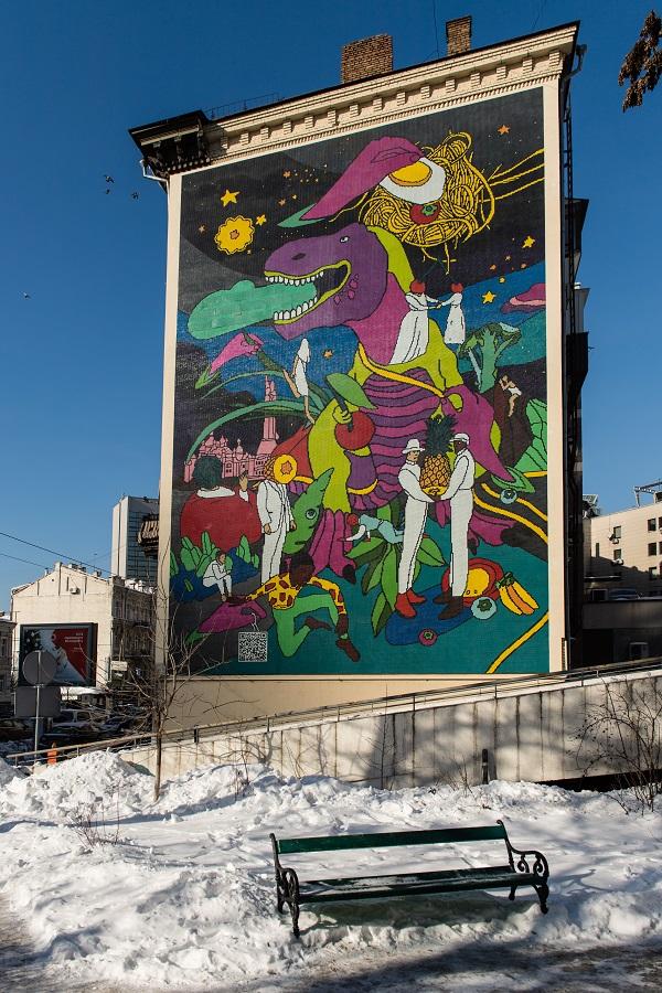 У Києві з'явилася яскрава монументальна мозаїка