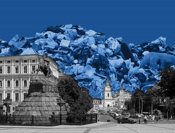 Еко-перформерки викладуть картину Моне зі сміття