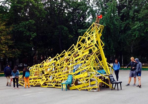 Антон Логов створив інсталяцію для фестивалю «Кропивницький‒2017»