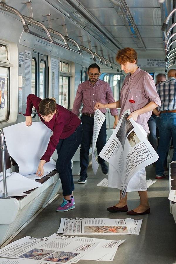 На синій гілці київського метро з'явився мистецький потяг «Енеїда»