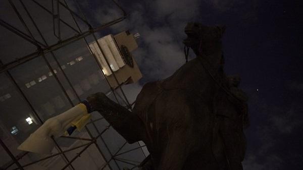 Митці відновили пошкоджений пам'ятник Щорсу в Києві