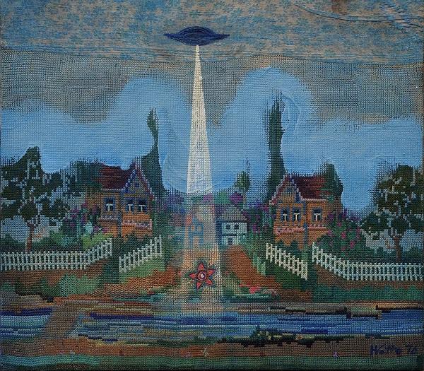 Колекцію НХМУ поповнить робота Віктора Хоменка «НЛО над селом»