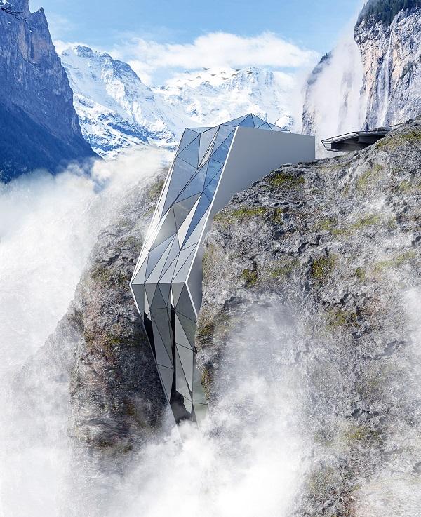Український дизайнер створив футуристичний проект готелю в Альпах