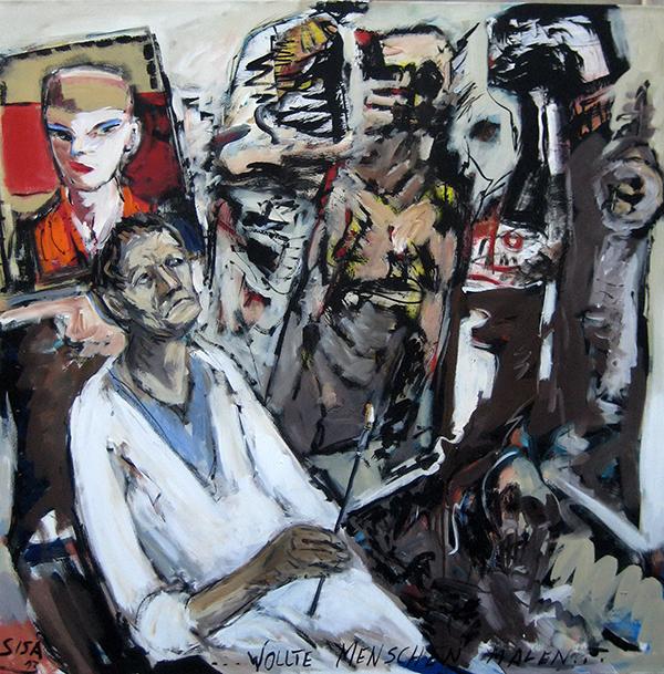 """Ганс Сиса. """"Хотел рисовать людей"""". 2011"""