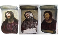 Spanish artist Cecilia Gimenez to share riches from botched restoration of a painting of Christ